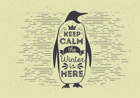 Gratis Vector Typografie Pinguïn Illutratie