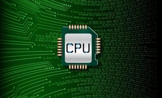 groene cpu circuit concept achtergrond vector