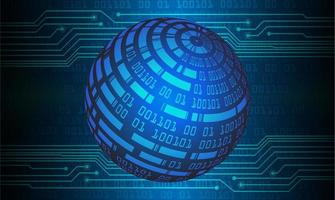 blauwe wereldkaart lichte abstracte technische achtergrond vector