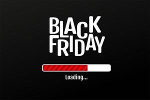 het tekstontwerp wordt momenteel gedownload voor de uitverkoop op zwarte vrijdag op oudejaarsavond. vector