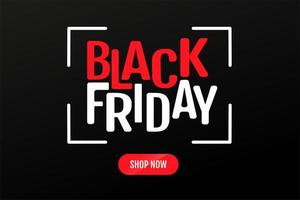 zwarte vrijdag tekstontwerp en winkel nu knoppen