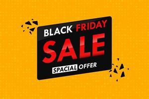 oranje polka dot achtergrond met tekst verkoop in zwarte vrijdag vector