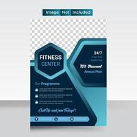 creatieve abstracte fitness- en gym-flyer
