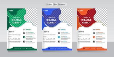 zakelijke flyer ontwerpsjabloon met 3 verschillende opties