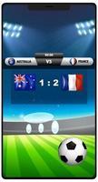 score voetbalwedstrijdsjabloon op een telefoonscherm