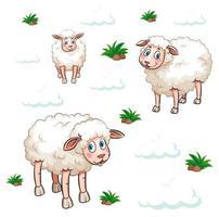 schapen naadloze patroon achtergrond vector