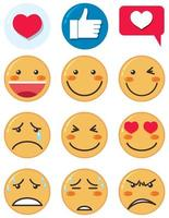 emoji pictogramserie vector