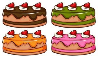 een eenvoudige gekleurde schets van de taarten vector