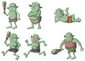 set van donkergroene goblins