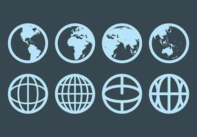 Gratis Globus Pictogrammen Vector