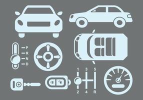 Pictogrammen voor auto-onderdelen vector