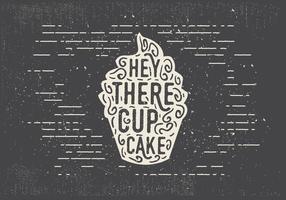 Vrije Hand Getrokken Zoete Cupcake Achtergrond