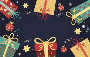 vrolijke kerst cadeau achtergrond