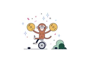 Gratis Show Monkey Vector