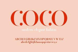 moderne elegante mode letter lettertype vector