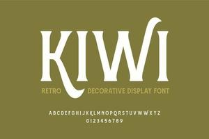 vintage decoratief display-lettertype vector