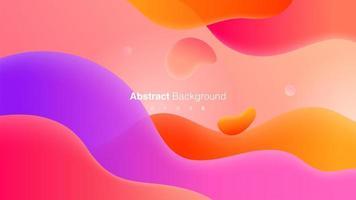 abstracte geometrische achtergrond met vloeibare vormen vector