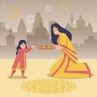 diwali viering illustratie