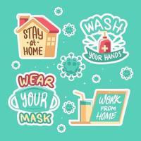 nieuw stickerpakket voor normale gewoonteherinneringen