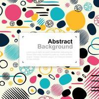 abstract cirkel en lijn kleurrijk patroonontwerp