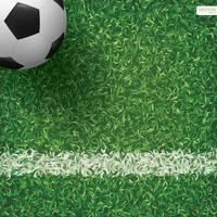 voetbal of voetbal in hoek van voetbalveld vector