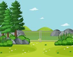 lege hemel in natuurparkscène met bomen