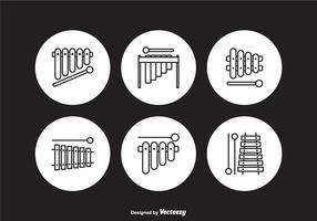 Gratis Marimba overzicht vector iconen