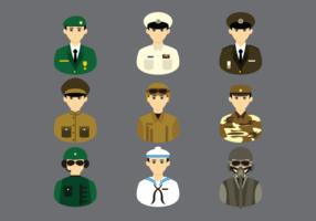 Brigadier cartoon vector