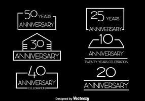 Eenvoudige verjaardag vector set