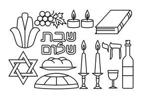 Gratis Shabbat Vector