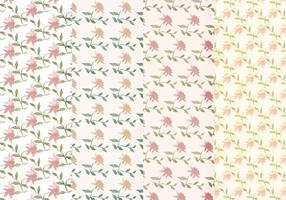 Vector Pastel Bloemenpatronen