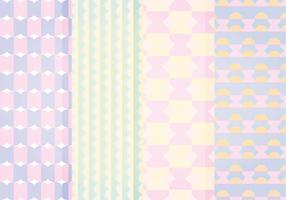 Vector Pastel Geometrische Patronen