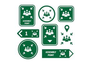 Meeting Point Sign Icon Gratis Vector