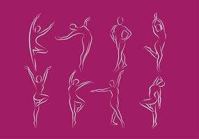 Verslanking logo lijn vrije vector