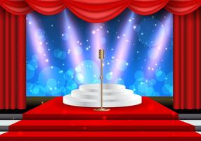 Holly Wood Lights Theatre Template vector