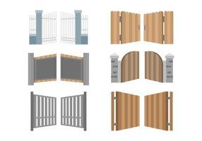 Gratis Open Gate Pictogrammen Vector