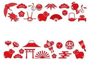 jaar van de os Aziatische pictogramachtergrond