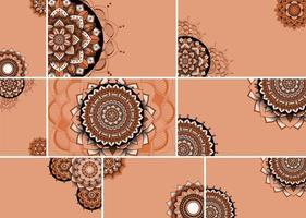 prachtige mandala ontwerpset achtergrond