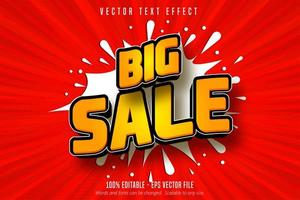 grote verkoop oranje winkelstijl bewerkbaar teksteffect