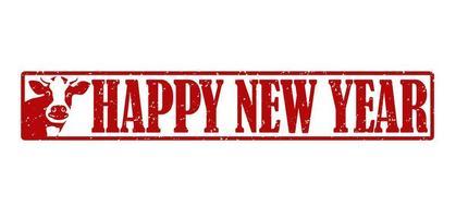jaar van het os-stempelelement voor nieuwjaar