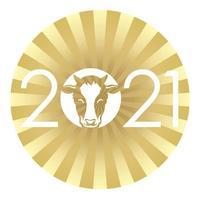 2021 Nieuwjaarsgroet ronde teken vector