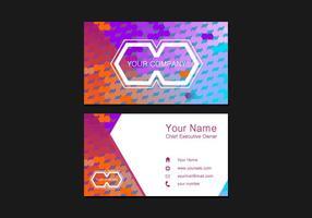 Namecard Gratis Vector