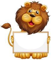 leeg teken sjabloon met leeuw op wit vector