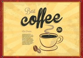 Beste Koffie Gloeiende Vector