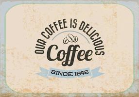 Vintage Heerlijke Koffie Vector