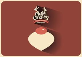 Vlak Kerst Ornament Vector