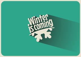 De winter komt aan de hand vector