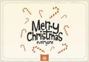 Vrolijke Kerstmis Iedereen Candy Cane Vector