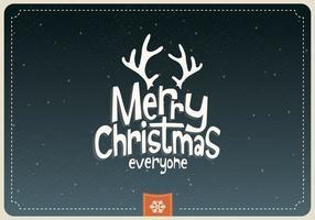 Vrolijk kerstmis iedereen cartoon vector