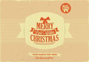 Vrolijke Kerstmis & Beste Wensen Vector
